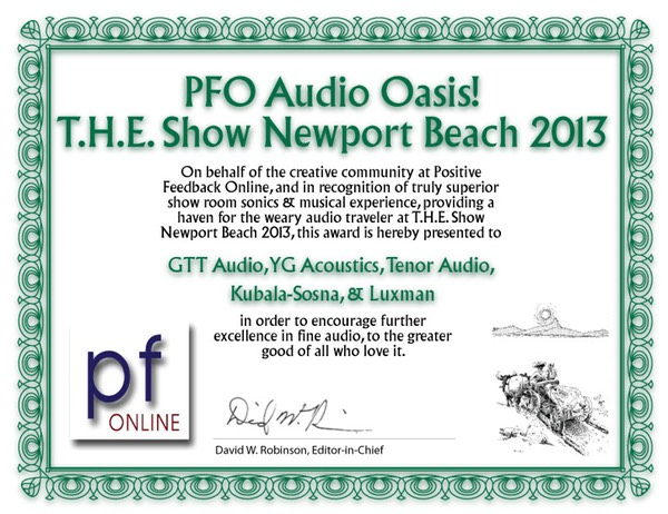 PFO Audio Oasis Newport Beach 2013